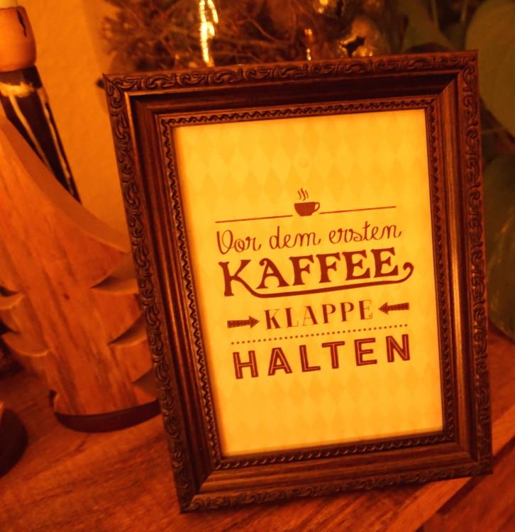 vor dem ersten Kaffee